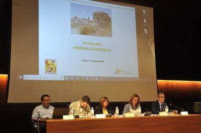 La Presidenta de la Federación participa en una jornada de despoblación rural en la Diputación de Huesca