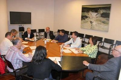 La Secretaría General de la Federación participa en el grupo de agua y energía de la Diputación Provincial de Huesca