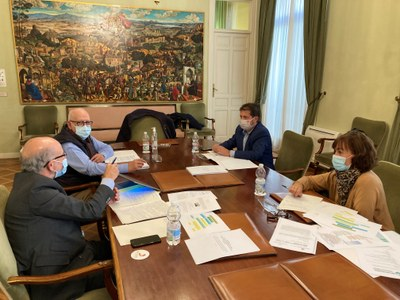Reunión de Presidencia y Secretaría General para el desarrollo del nuevo convenio firmado con la Dirección General del Catastro